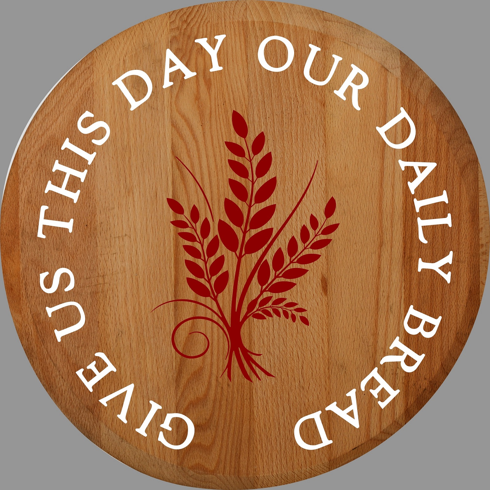 """Our Daily Bread Lazy Susan/Round Sign"" DIY Wood Sign Kit (17in Round)"