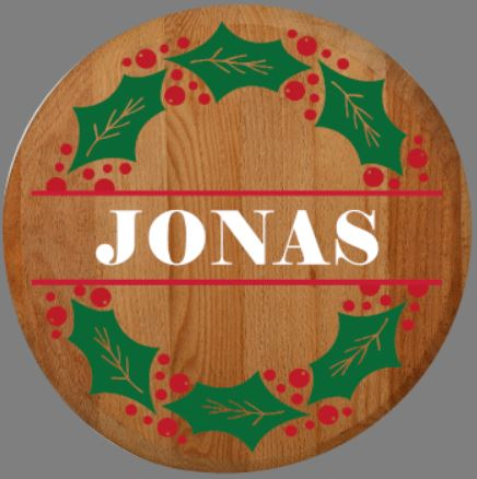 """Customizable Christmas Wreath Lazy Susan/Round Sign"" DIY Wood Sign Kit (17in Round)"
