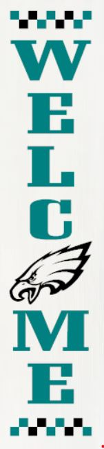 """Philadelphia Eagles"" DIY Wood Porch Sign Kit (12inx48in)"