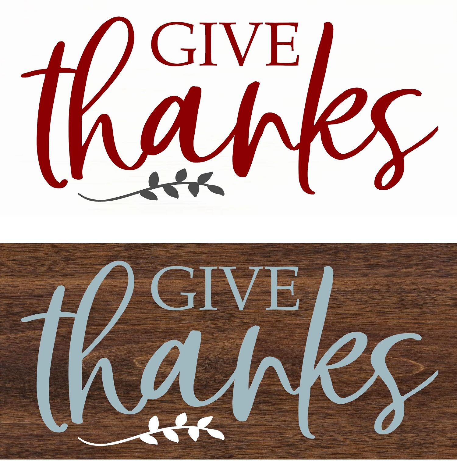 """Give Thanks"" DIY Wood Sign Kit (12inx24in)"