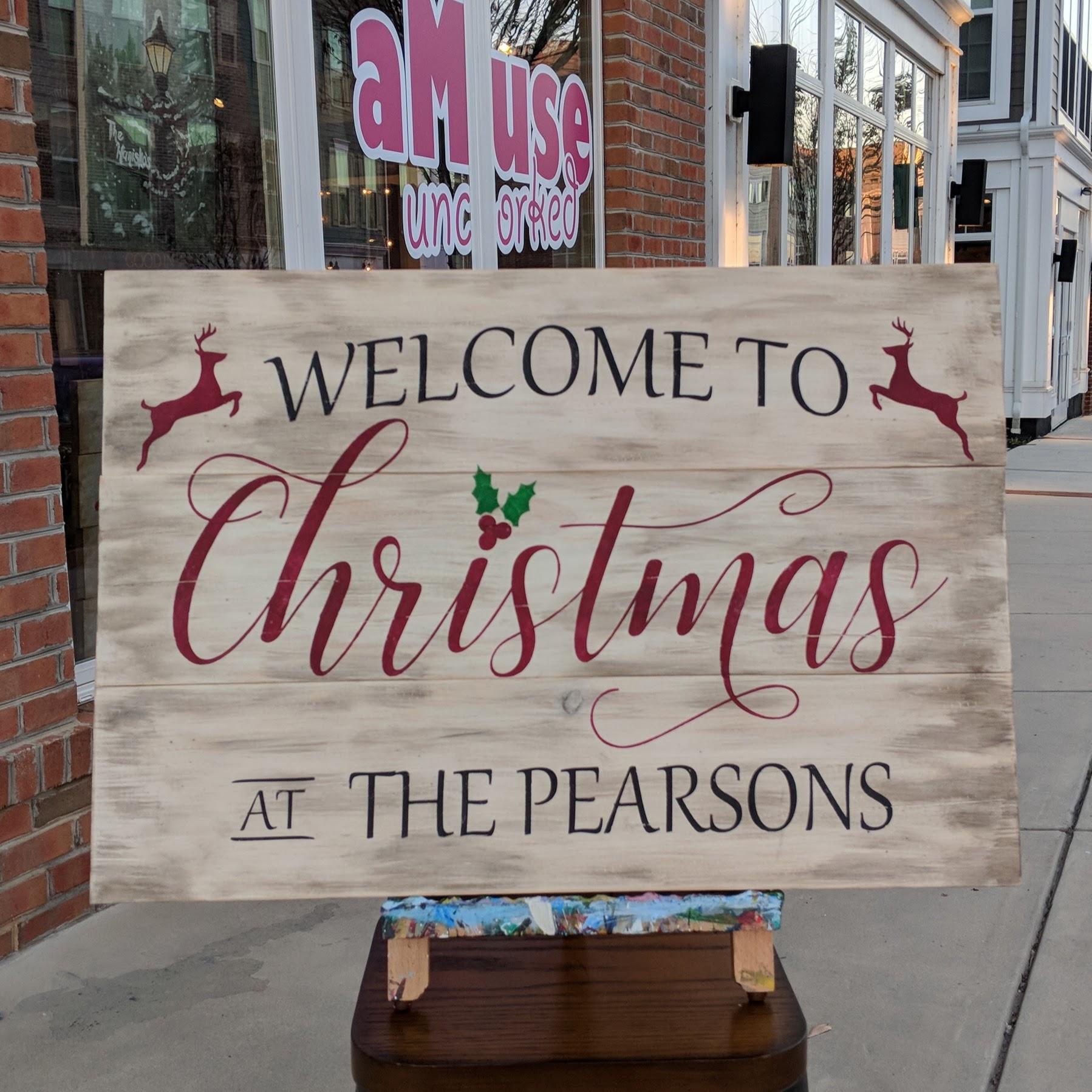Custom Welcome to Christmas Wood Sign
