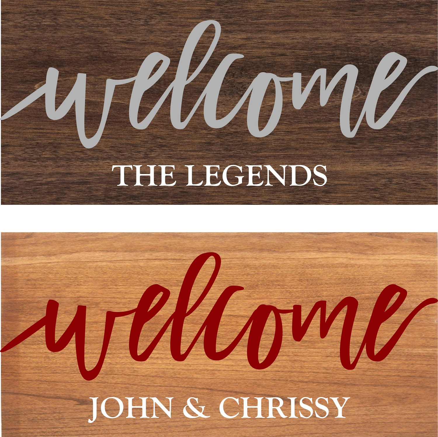 """Customizable Welcome Sign"" DIY Wood Sign Kit (12inx24in)"