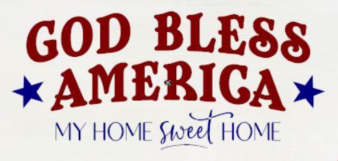 """God Bless America"" DIY Wood Sign Kit (12inx24in)"