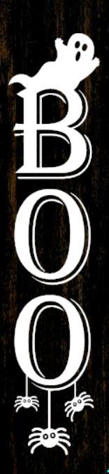 """Boo"" DIY Wood Porch Sign Kit (12inx48in)"