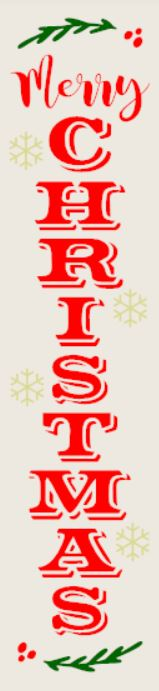 """Merry Christmas"" DIY Wood Porch Sign Kit (12inx48in)"