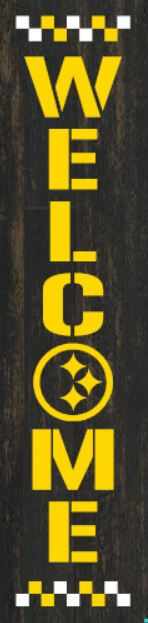 """Pittsburgh Steelers"" DIY Wood Porch Sign Kit (12inx48in)"