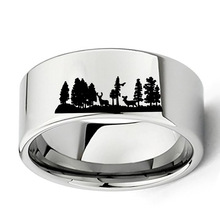 MEN'S DEER RING HTB1  SILVER