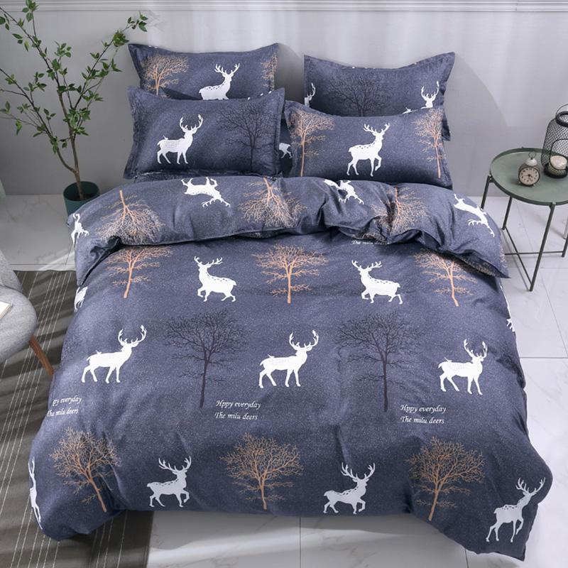 BLUE /GREY DEER BED SET