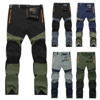 MEN'S HIKING PANTS HTB1 BLACK/GREEN
