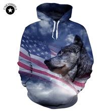 WOLF USA FLAG HOODIE
