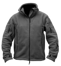 MEN'S FLEECE TACTICAL JACKET HTB1 GREY