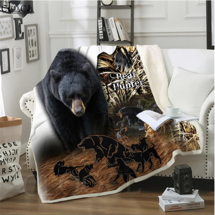 BEAR HUNTING BLANKET  HTB1 BEAR