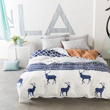 WHITETAIL DEER BED SET HTB1 BLUE/WHITE