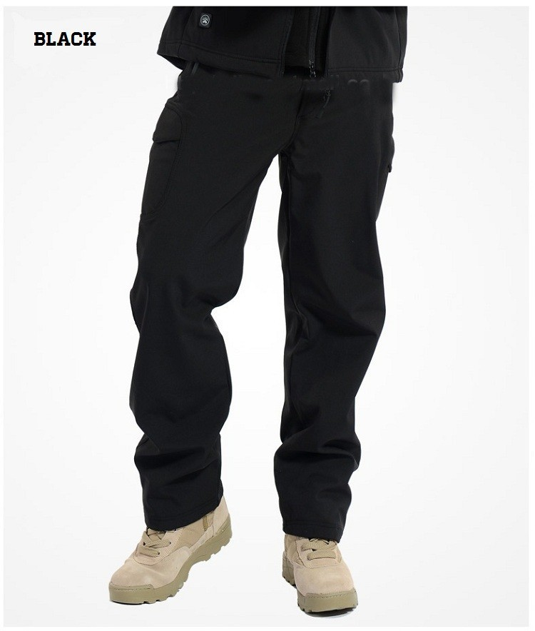 BLACK MEN'S TACTICAL PANTS