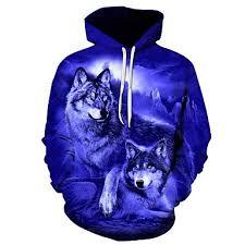 3D WOLF HOODIE HTB1 BLUE