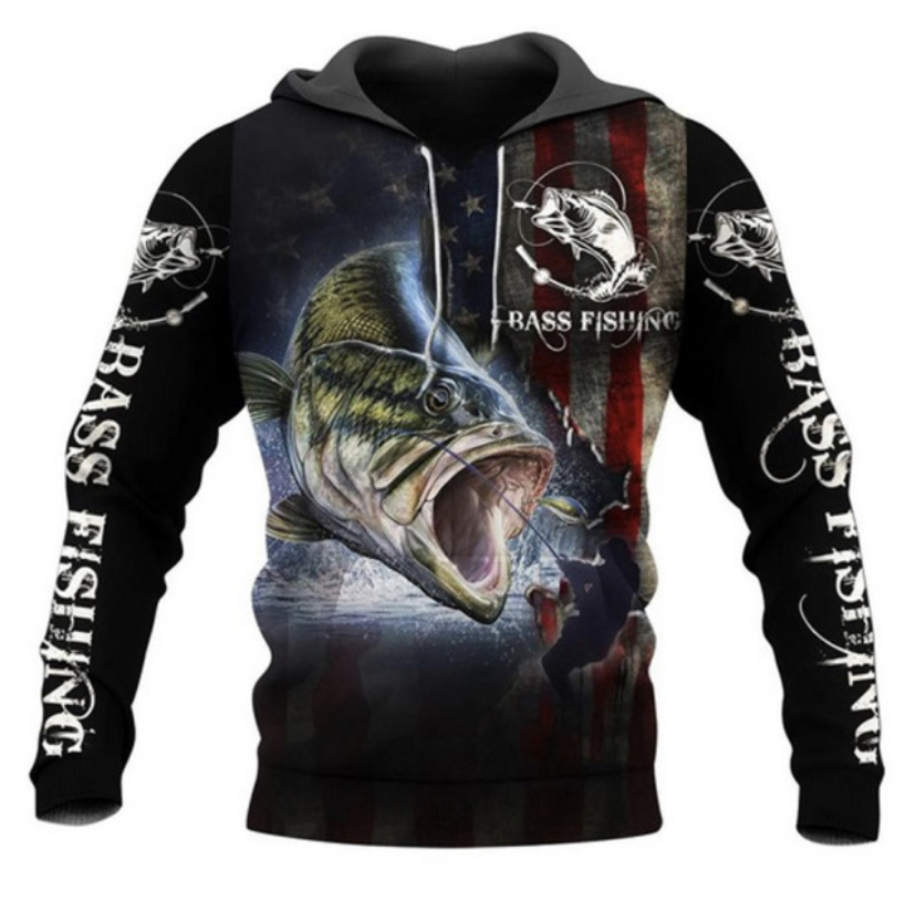 FISHING HUNTING HOODIE HTB1  BLACK 1