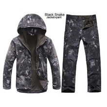 MEN'S TACTICAL JACKET SET HTB1 BLACK SNAKE