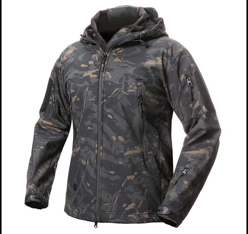 MENS TACTICAL JACKET HTB1 MULTICAMO BLACK
