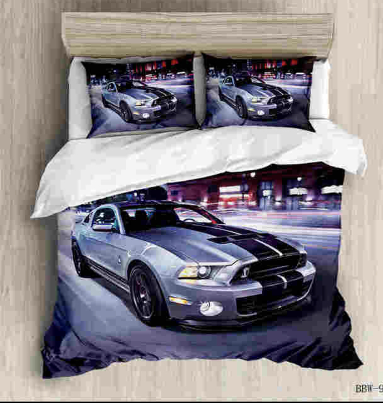 MUSTANG BED SET HTB1 BLUE