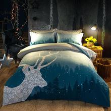 BLUE DEER BED SET