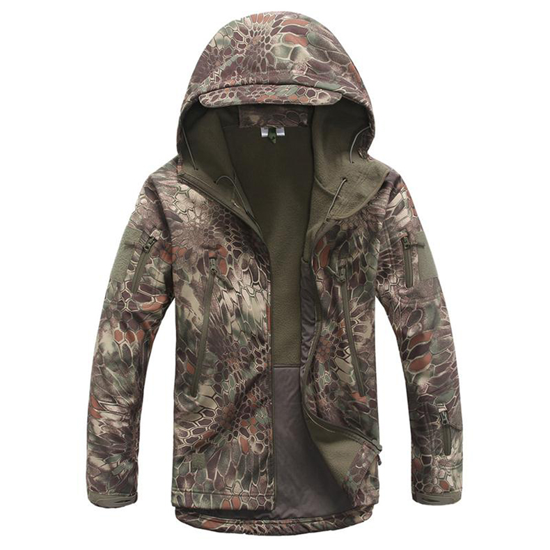 MENS TACTICAL JACKET HTB1 GREEN SNAKE