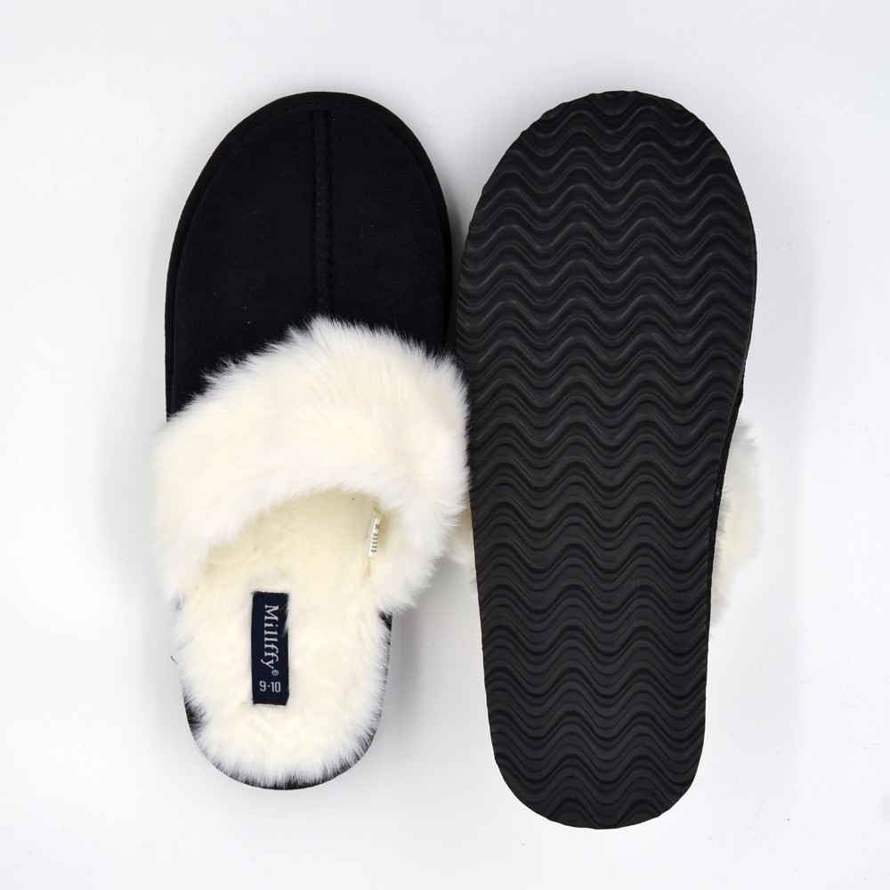 WOMEN'S SLIP ON SLIPPERS HTB1 BLACK