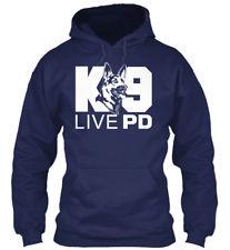 LIVE PD K9 HOODIE HTBL BLUE