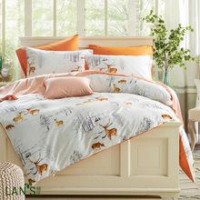 WHITETAIL DEER BED SET WHITE