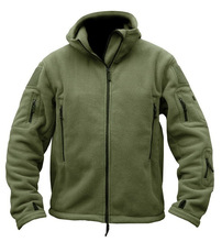 MEN'S FLEECE TACTICAL JACKET HTB1 GREEN