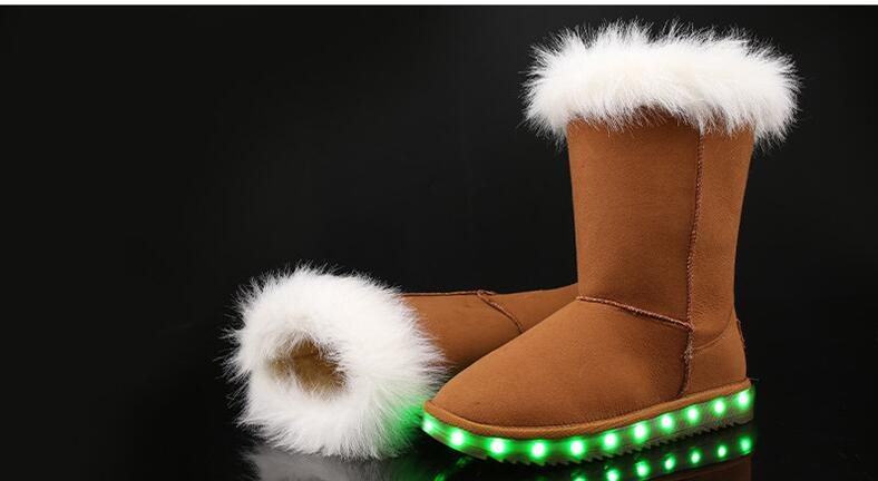 CHILDREN'S LED UGG BOOTS HTB1 TAN