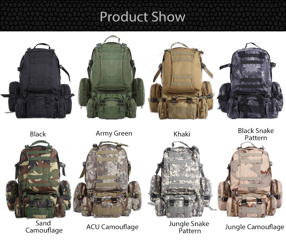 LARGE TACTICAL BACKPACKS 40 LG