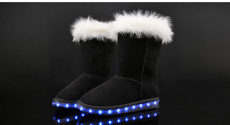 CHILDREN'S LED UGG BOOTS HTB1 BLACK