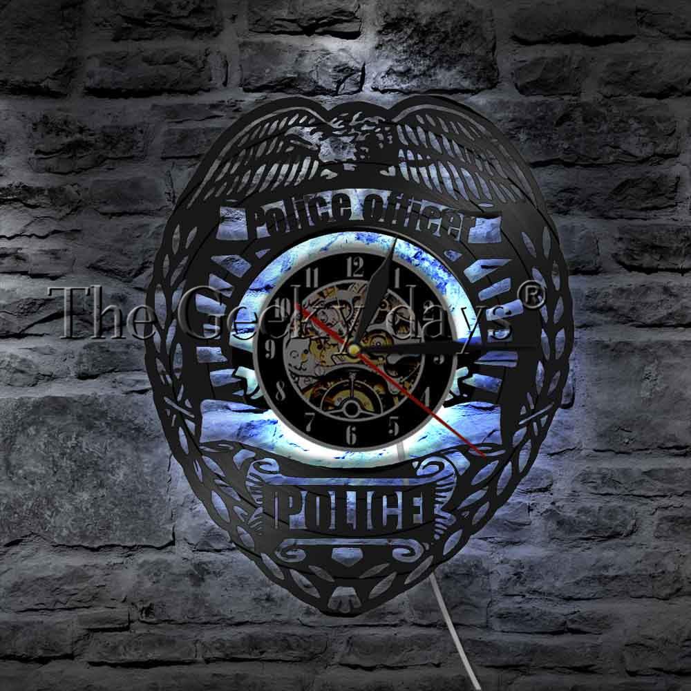 POLICE WALL CLOCK HTB1 BADGE