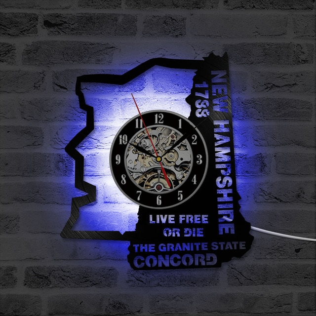 NEW HAMPSHIRE STATE WALL CLOCK HTB1 3