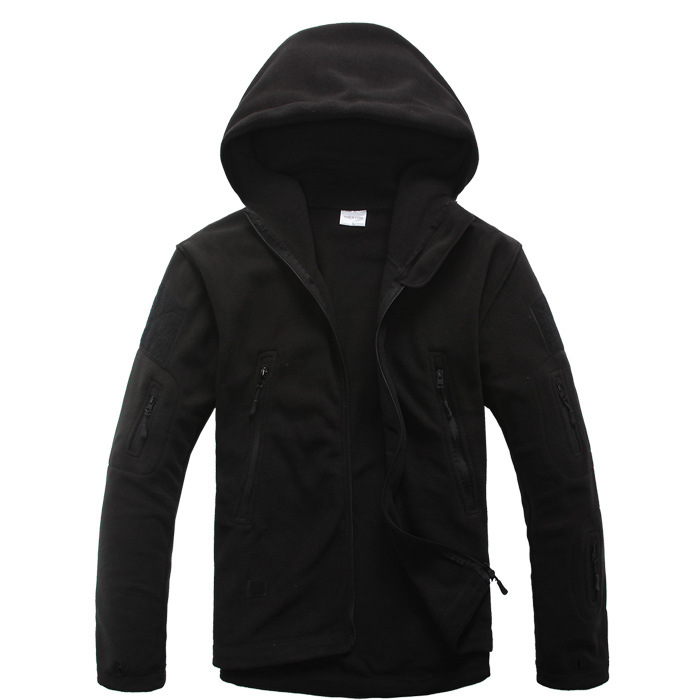 MEN'S FLEECE TACTICAL JACKET HTB1 BLACK