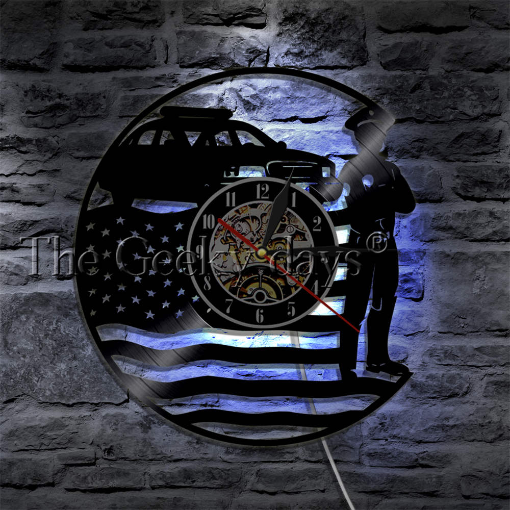 POLICE WALL CLOCK HTB1 POLICE