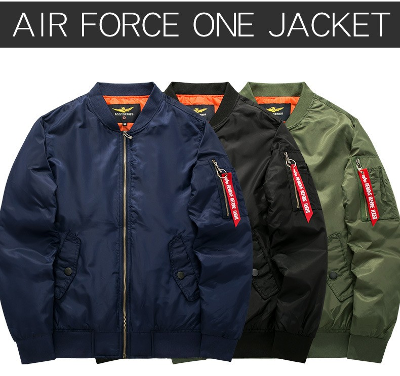 MEN'S BLACK BOMBER JACKETS