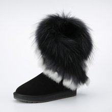 WOMEN'S IVG FUR UGG BOOTS HTB1 BLACK