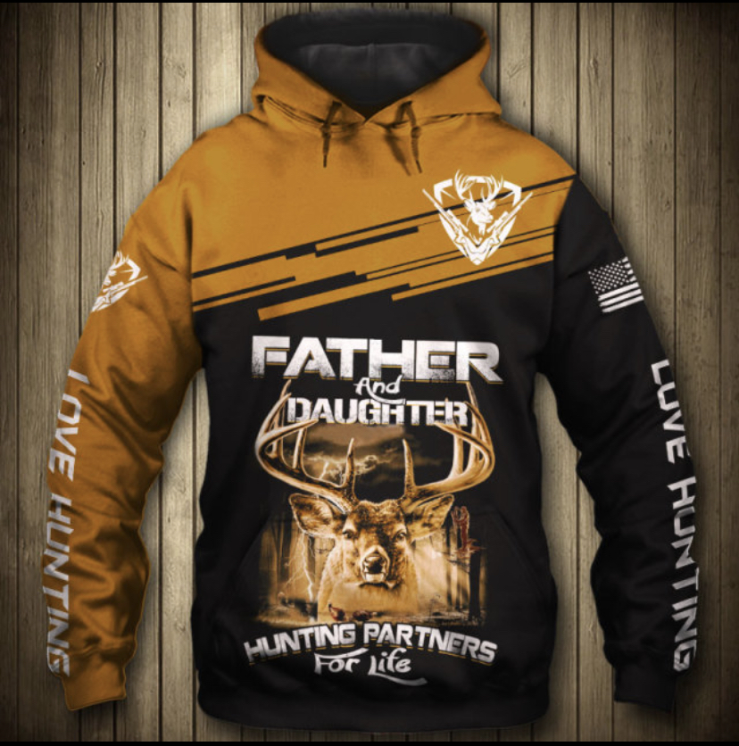 FATHER DAUGHTER HUNTING  HOODIE HTB1 5
