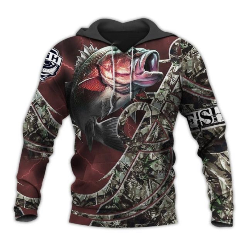 FISHING HUNTING HOODIE  HTB1  RED 2