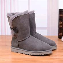 WOMEN'S HALF UGG BOOTS HTB1 ONE BUTTON GREY