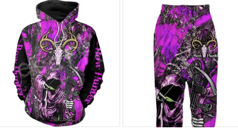 WOMENS BOW HOODIE SET HTB1 BOW PINk