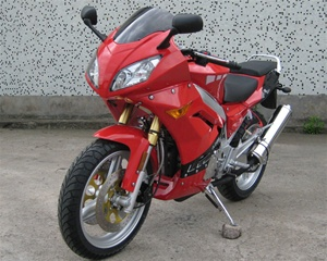 RED NINJA 250 MOTORCYCLE