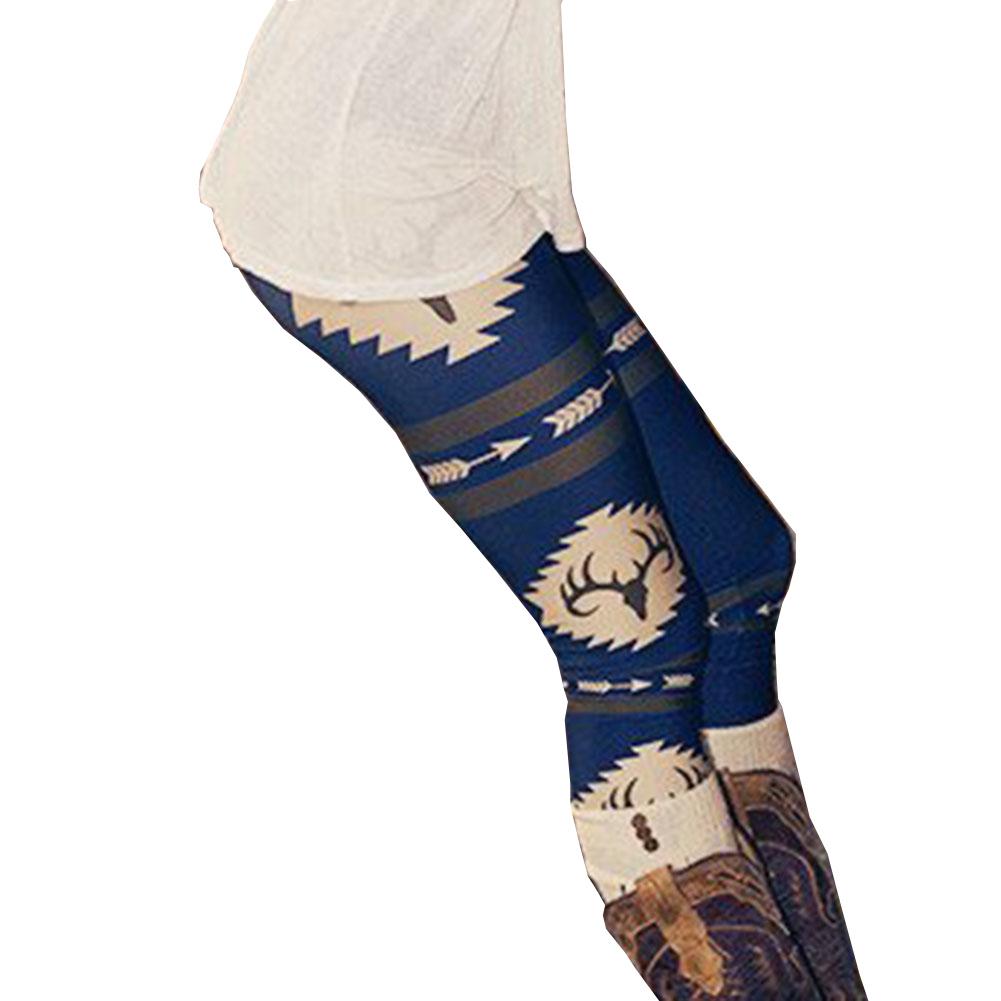 WOMEN'S DEER LEGGINGS HTB1 BLUE
