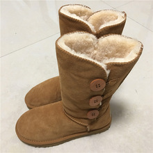 WOMEN'S UGG BOOTS HTB1 3 BUTTON TAN