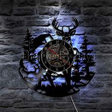 DEER WALL CLOCK HTB1 BLUE