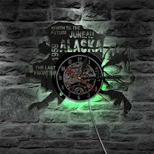 ALASKA STATE WALL CLOCK HTB1 2