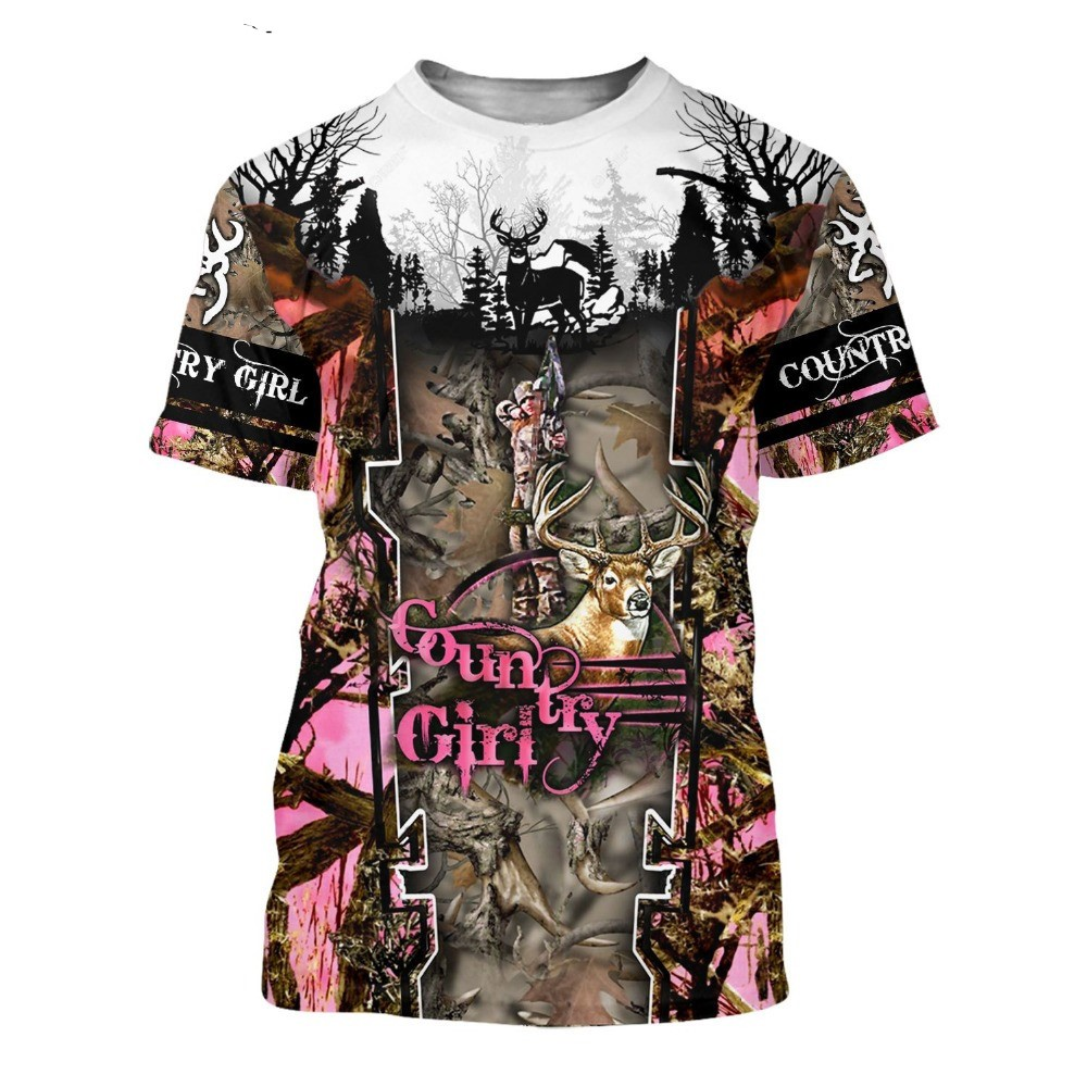 WOMEN'S HUNTING T-SHIRT HTB1 PINK