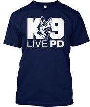 LIVE PD K9 T-SHIRT HTB1 BLUE