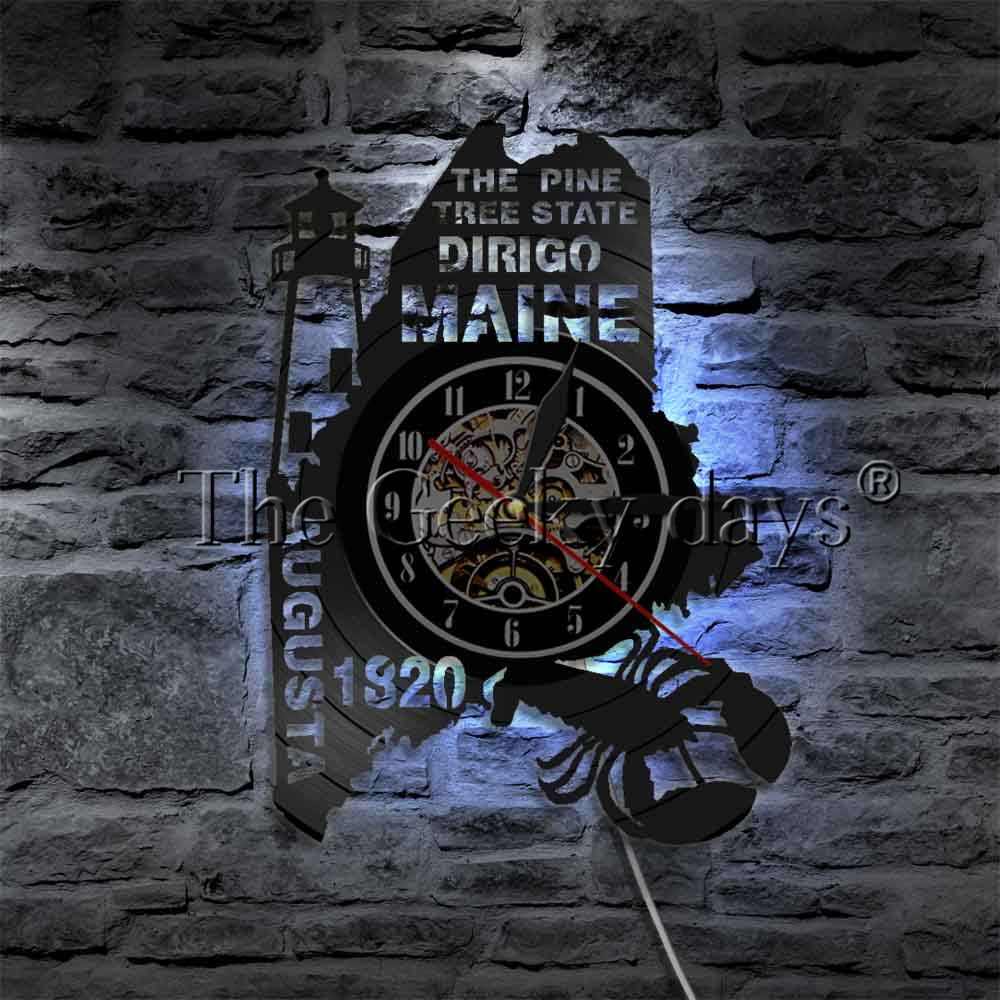 MAINE STATE WALL CLOCK HTB1 1